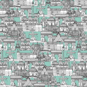Sharon Turner-PARIS TOILE AQUAMARINE
