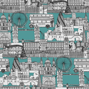 Sharon Turner-London toile blue